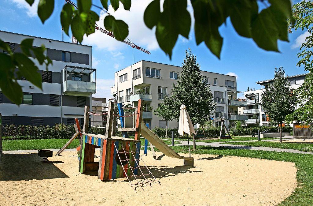 Neubauten in der Pliensauvorstadt . . . Foto: