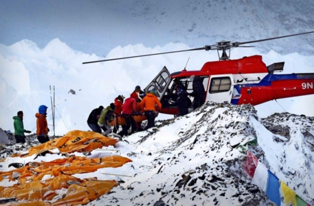 Die Lage am Mount Everest ist laut den Sherpafamilien dramatisch. Foto:AFP Foto: