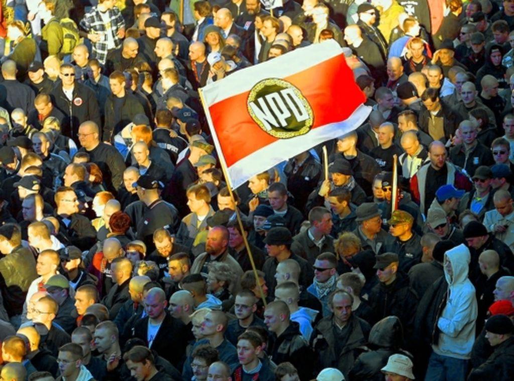 Die NPD gibt den Ton an in der rechtsextremistischen Szene. Foto: dapd
