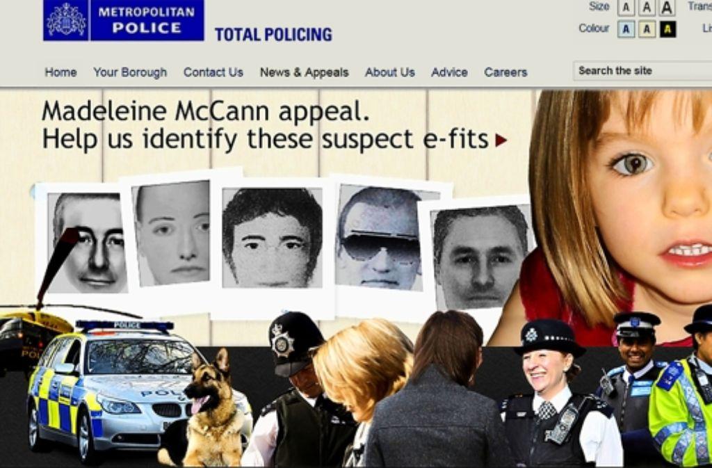 Mit mehreren Phantombildern sucht die Polizei nach den möglichen Entführern. Foto: