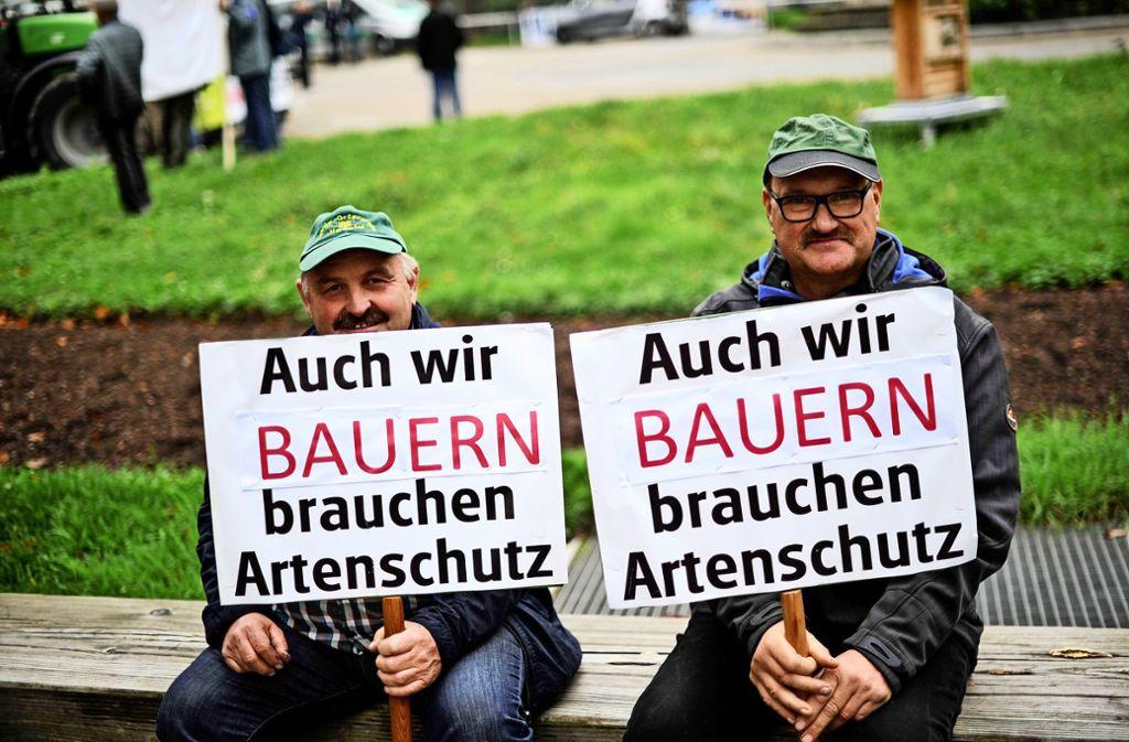 Kürzlich haben in Stuttgart etliche Landwirte gegen wachsende Auflagen und das Agrarpaket der Politik demonstriert. Foto: Lichtgut/Max Kovalenko