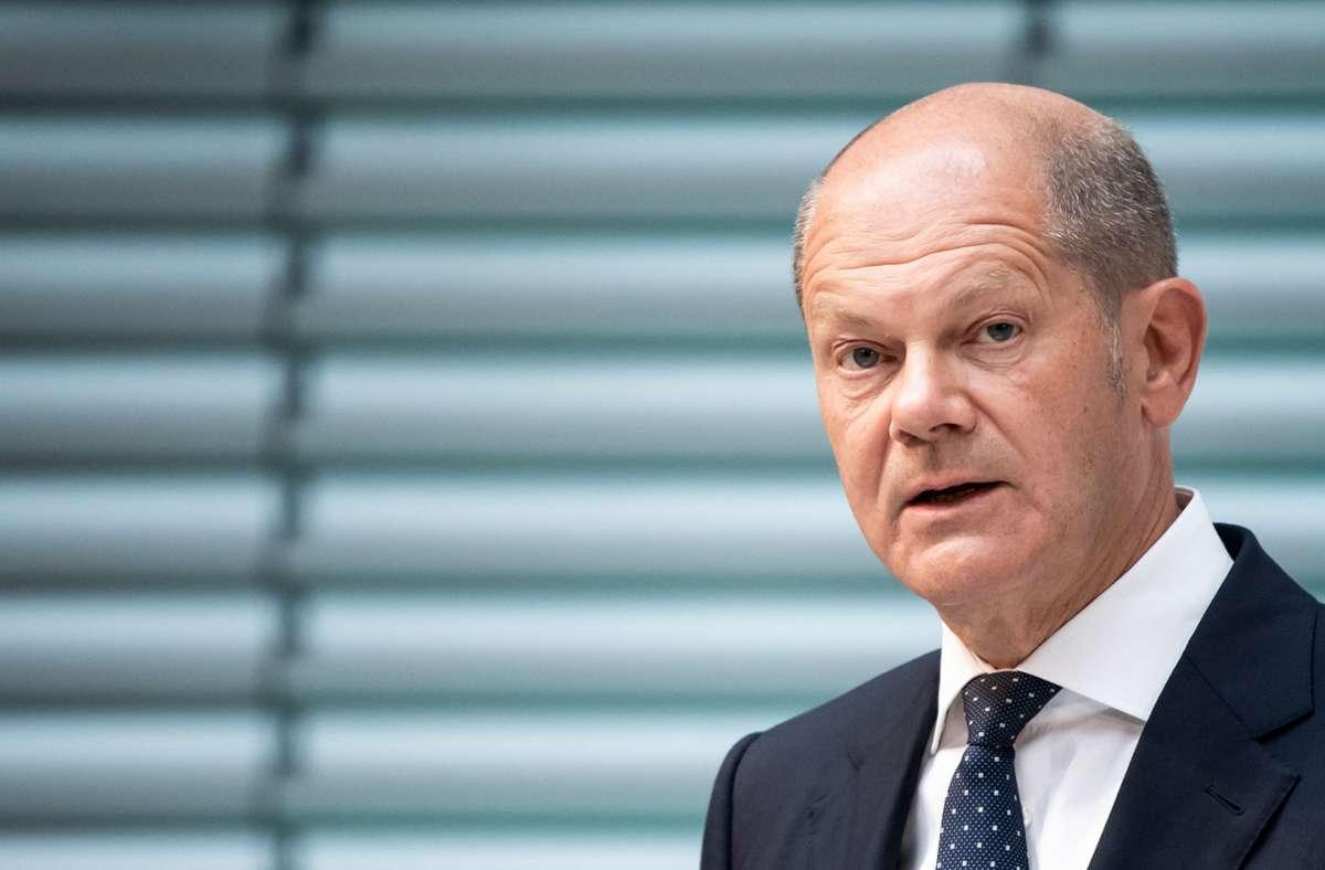 Kanzlerkandidat Olaf Scholz (SPD) spricht sich gegen einen erneuten Lockdown aus (Archivbild). Foto: dpa/Bernd von Jutrczenka