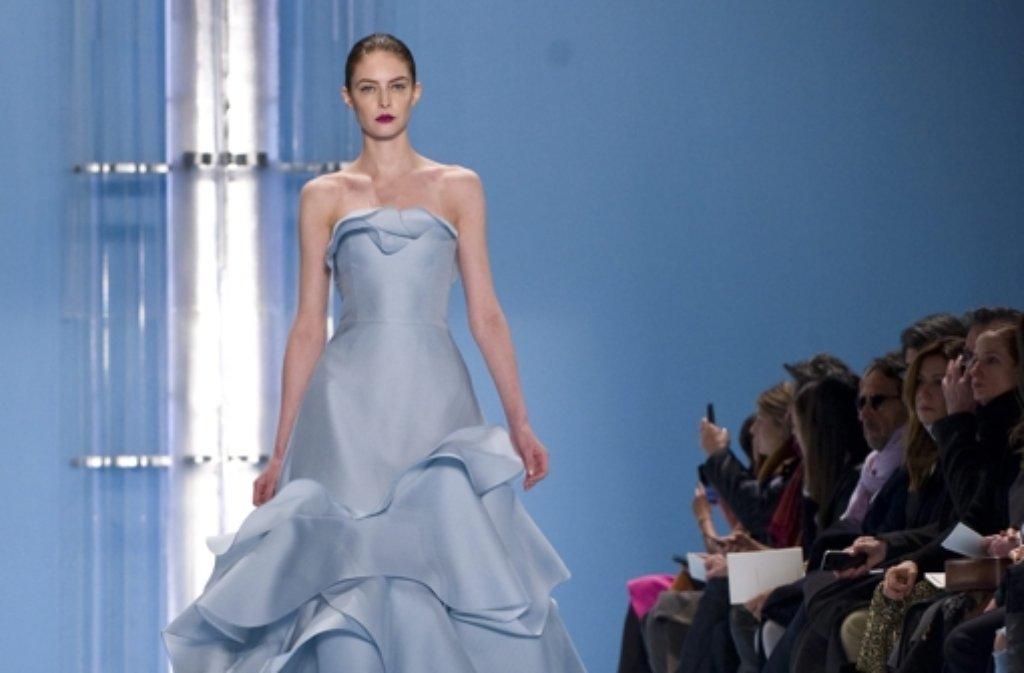 Die Präsentation von Carolina Herrera ist eine der wichtigsten Schauen der New Yorker Fashion Week. Foto: dpa