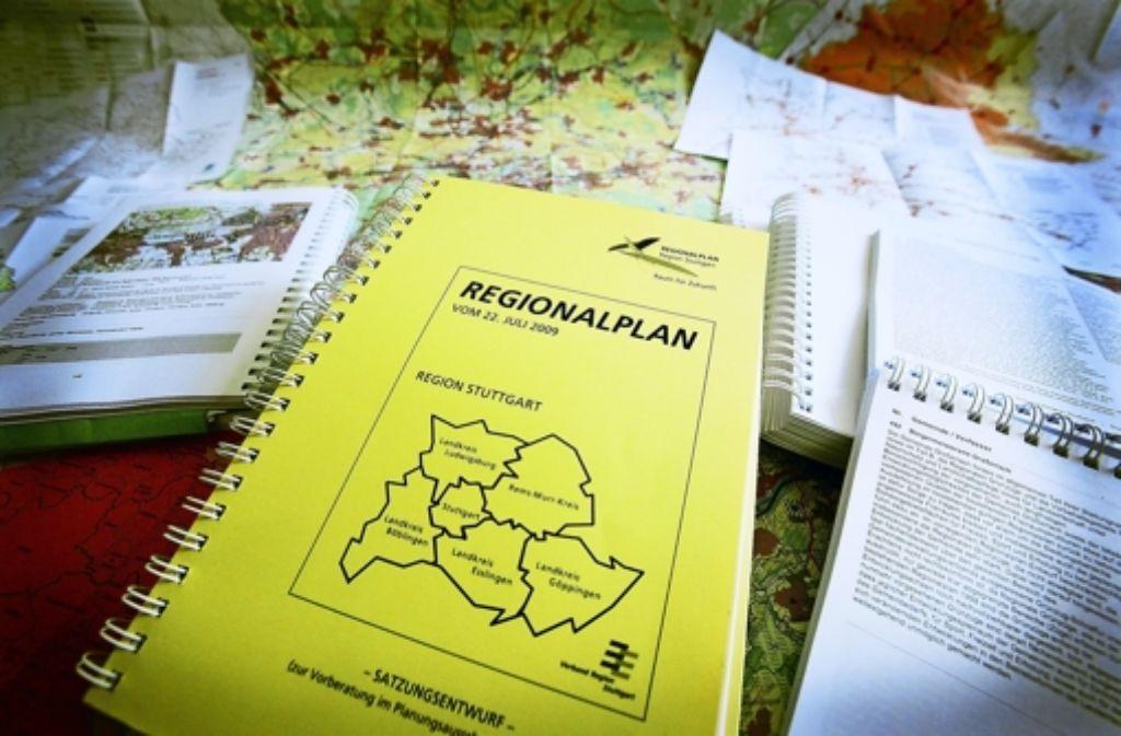 Umstrittenes Werk: Der Regionalplan beschäftigt die Gerichte. Foto: Michael Steinert