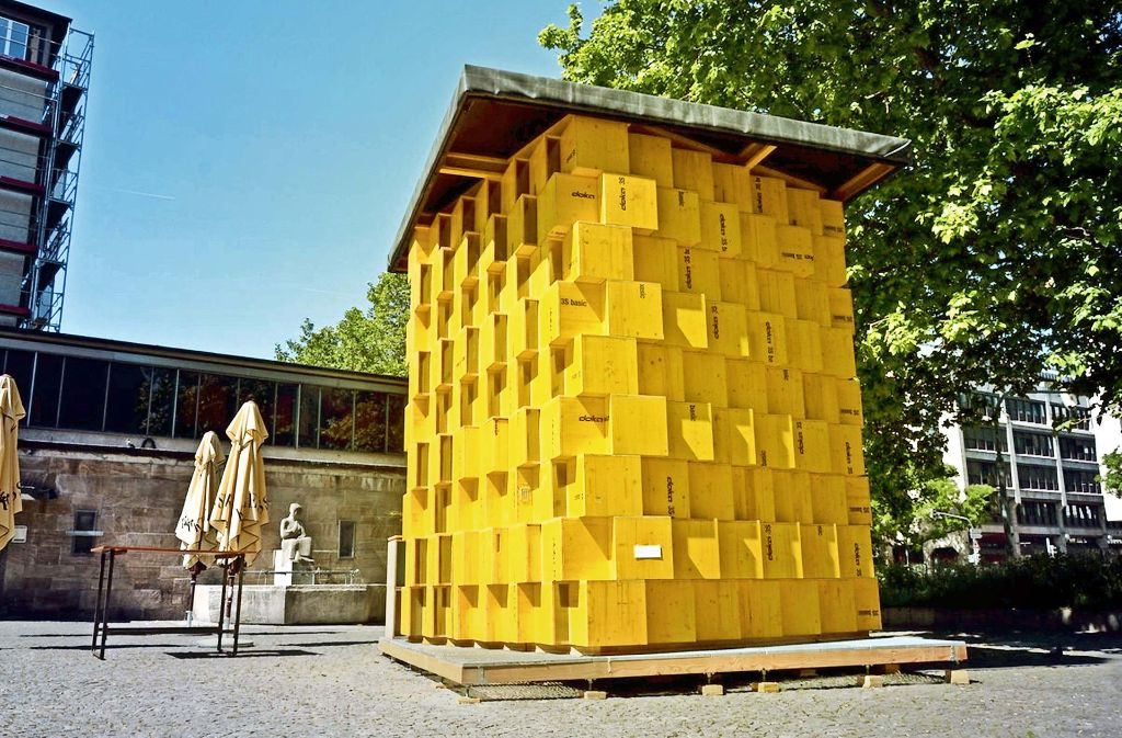 Innen schön hell und von außen ein Blickfang: das Übehaus von Nicola Missel Foto: Stadt Stuttgart