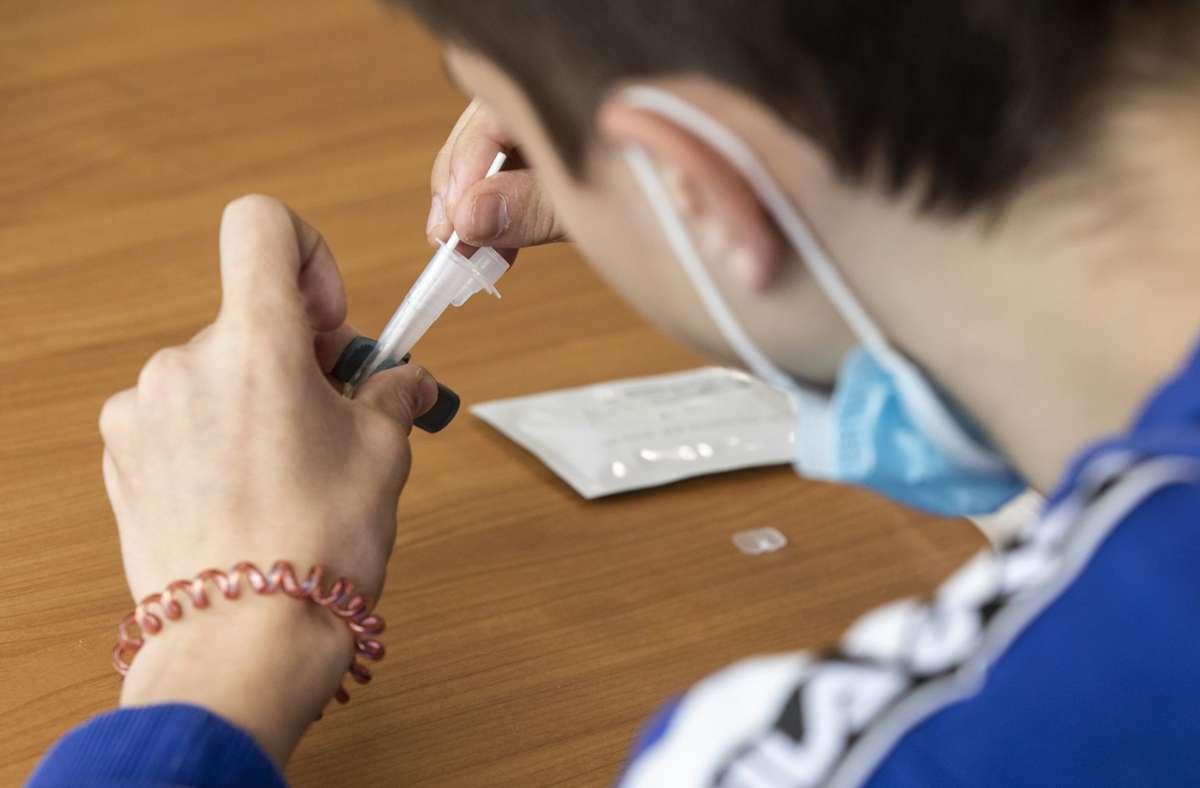 Maskenpflicht und auch regelmäßige Tests sollten im auslaufenden Schuljahr bleiben (Symbolbild). Foto: Frank Eppler/Frank Eppler