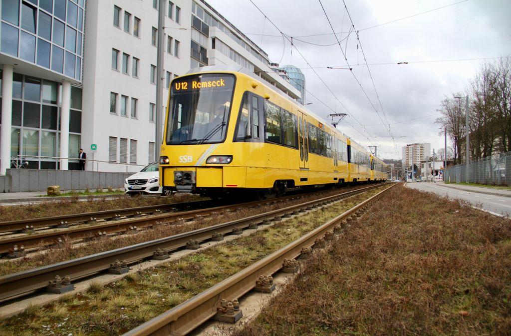 Der Stadtbahnlinie U12 sind Parkplätze im Synergiepark zum Opfer gefallen Foto: Corinna Pehar