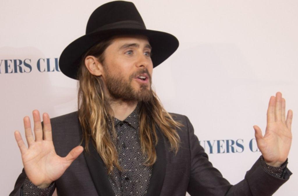 """Mann mit Hut: Jared Leto auf dem roten Teppich bei der Premiere des Films """"Dallas Buyers Club"""" Foto: AP"""