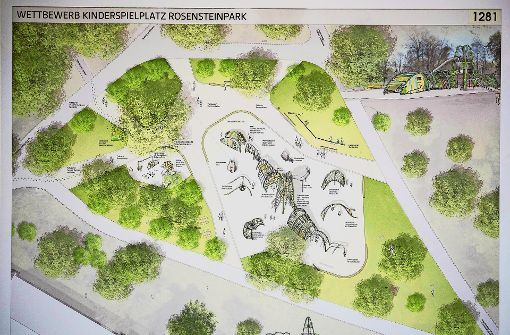 Ein Dinosaurier für den Rosensteinpark