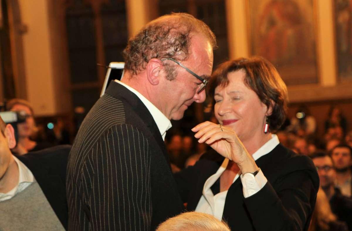 So nahe wie 2017 bei der Verleihung des Deutschen Buchpreises an Robert Menasse wird man sich in diesem Jahr im Frankfurter Römer nicht kommen. Foto: imago/Hartenfelser/Peter Hartenfelser