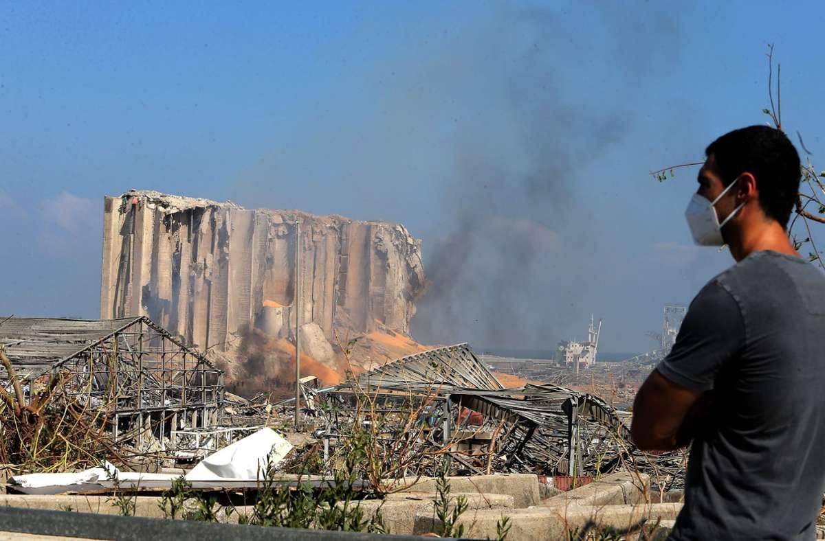 Die Bundesregierung zeigte sich erschüttert über die Berichte und Bilder der Katastrophe. Foto: AFP/STR