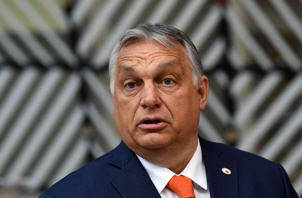 Viktor Orban rief die Bevölkerung auf das LGBTQ-Gesetz zu unterstützen. (Archivbild) Foto: AFP/JOHN THYS