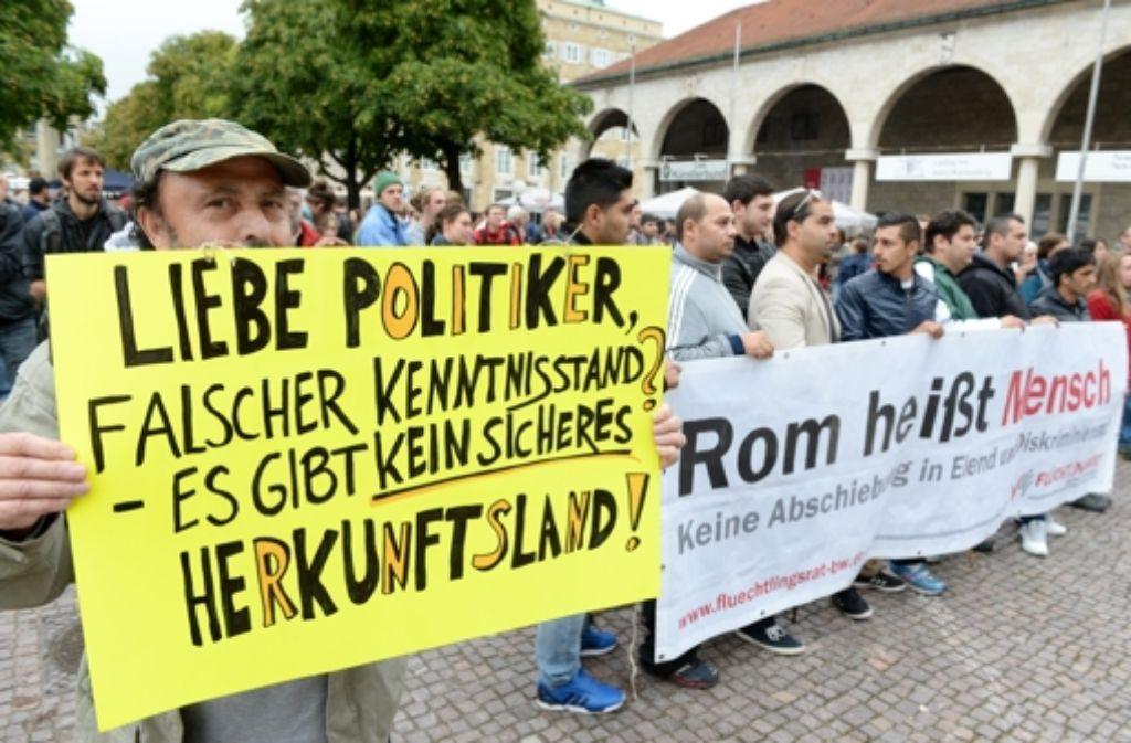 Auch in Stuttgart hat es Proteste gegen die Verschärfung des Asylrechts gegeben. Foto: dpa