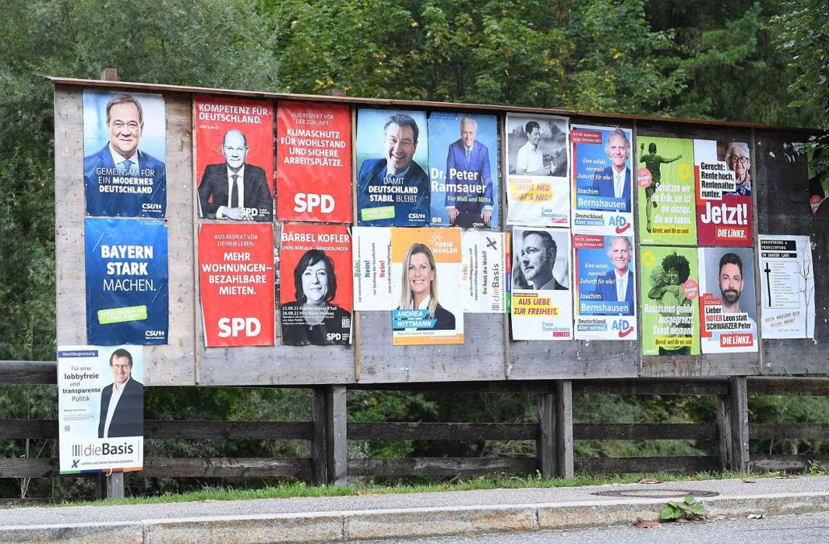 Plakate im Bundestagswahlkampf (Symbolbild). Foto: IMAGO / Revierfoto