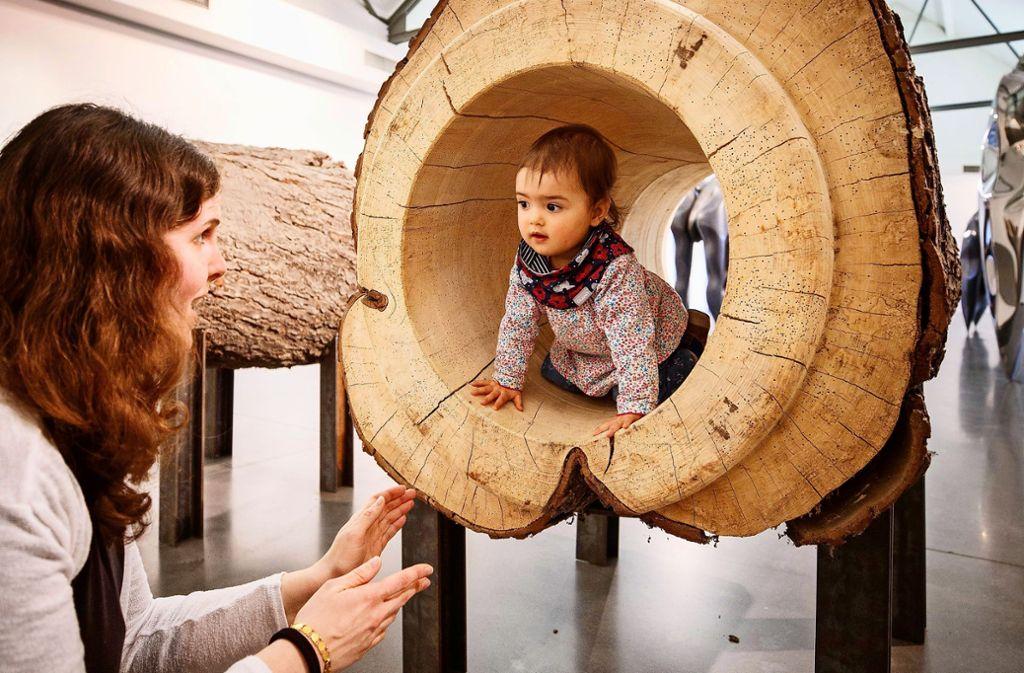 Juna ist ein Jahr alt und schon Stammgast in der Schorndorfer Galerie. Foto: Gottfried Stoppel