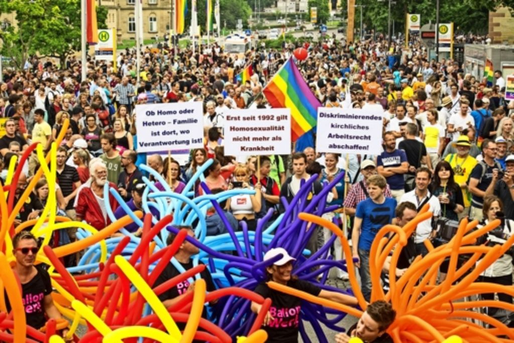 Auch 2016  wird demonstriert. Die   CSD-Parade ist nicht gefährdet. Foto: factum/Weise