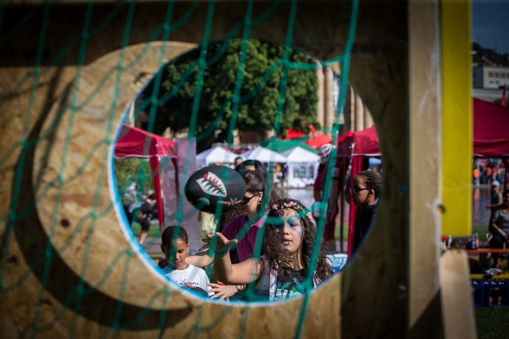 Das Kinder- und JUgendfestival hält zahlreiche Aktivitäten für die Besucher bereit. Foto: Lichtgut/Achim Zweygarth