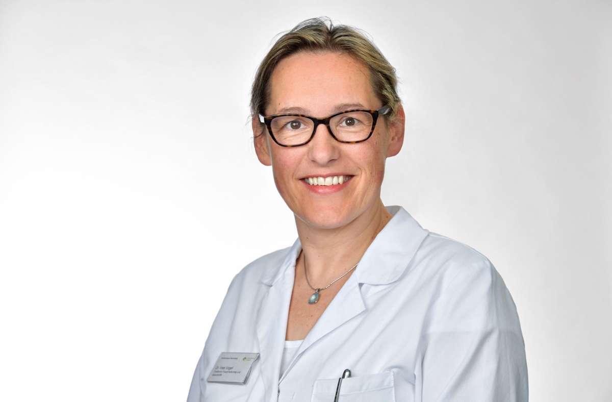 Ines Vogel ist Chefärztin in der Klinik für Frauenheilkunde und Geburtshilfe am Krankenhaus Herrenberg. Foto: Krankenhaus Herrenberg