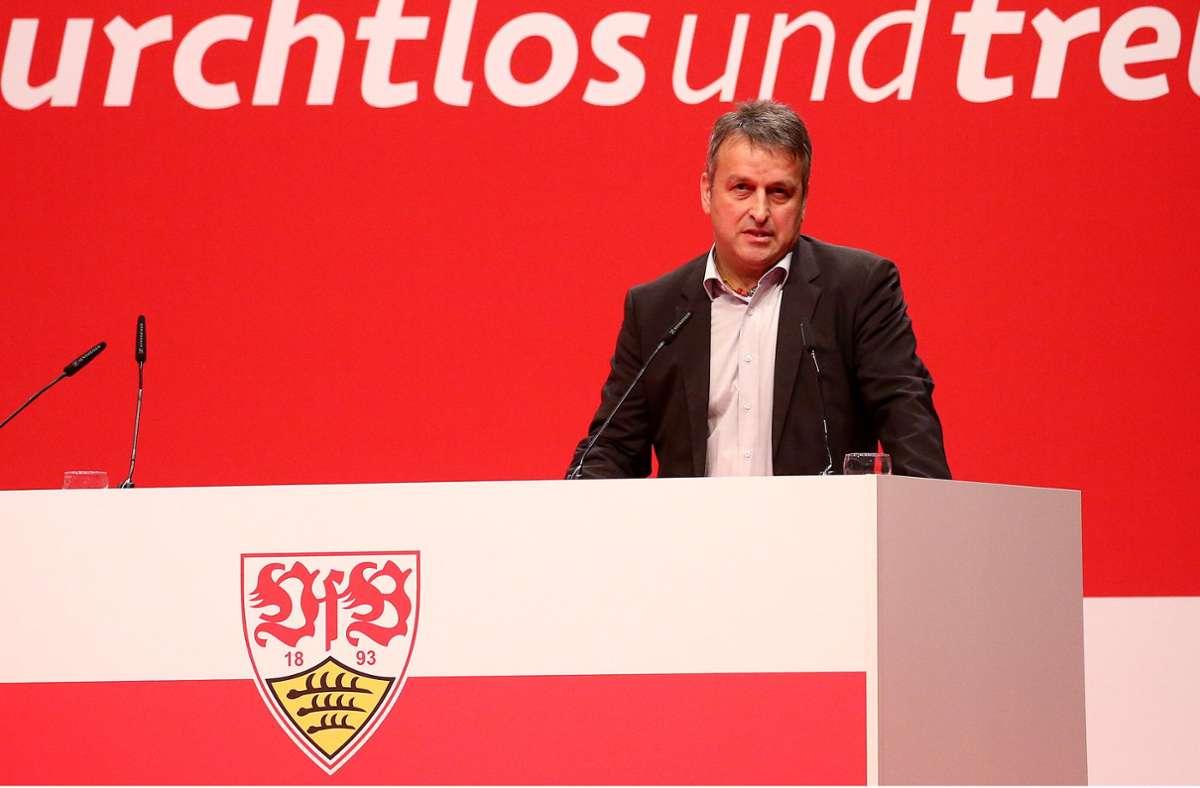 Rainer Mutschler hat sein Amt als Vizepräsident beim VfB niedergelegt. Foto: Pressefoto Baumann/Julia Rahn