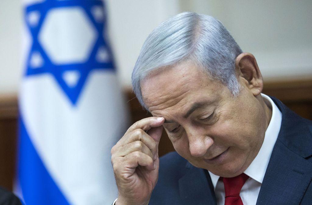 Unter Druck: Benjamin Netanjahu droht ein Strafverfahren. Foto: dpa