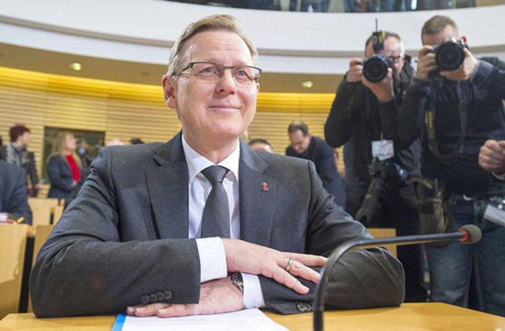 Bodo Ramelow hat es im zweiten Wahlgang geschafft. Der 58-Jährige ist der ersten Ministerpräsident der Partei Die Linke. Foto: Getty Images