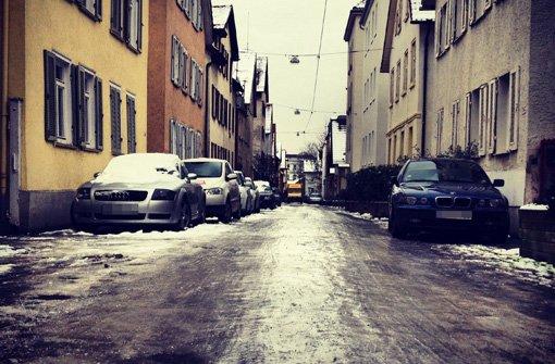Blitzeis in Stuttgart - von Lesern fotografiert