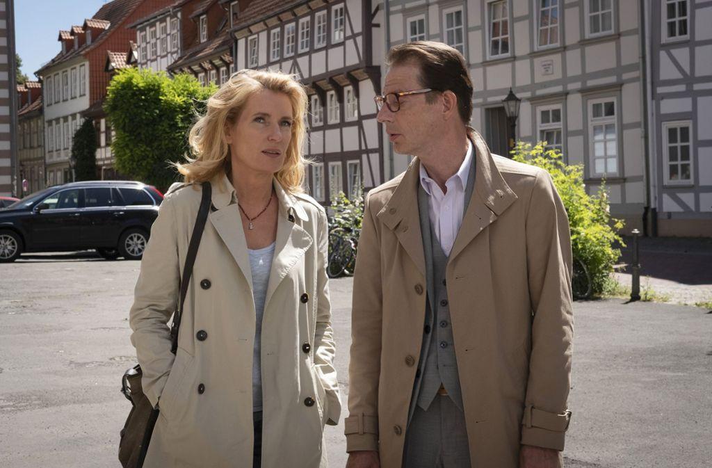 Strafversetzt: Charlotte Lindholm (Maria Furtwängler) mit ihrem neuen Vorgesetzten Gerd Liebig (Luc Feit) in Göttingen Foto: NDR