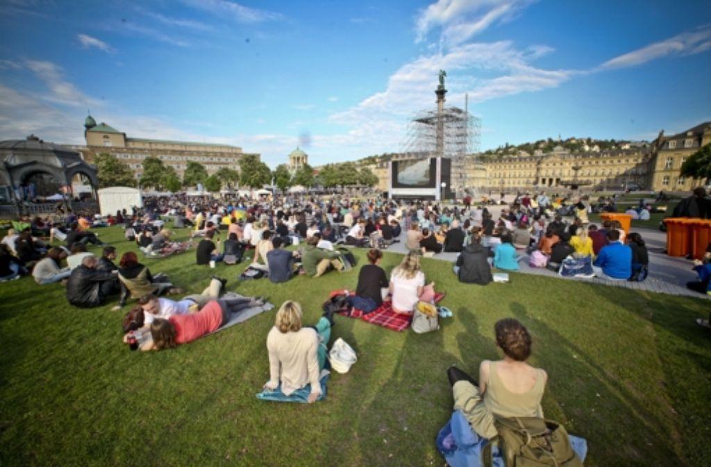 Wie im letzten Jahr ist der Schlossplatz wieder das Herz des Festivals Foto: Peter Petsch