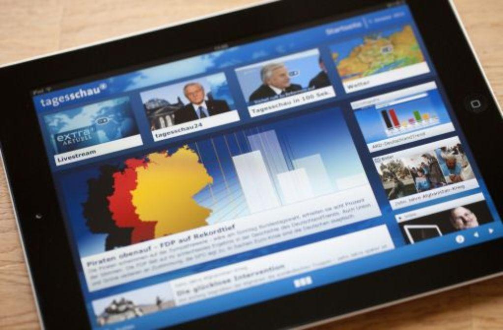 Die ARD besitzt für die Tagesschau-App laut Gericht die nötige Genehmigung. Foto: dpa