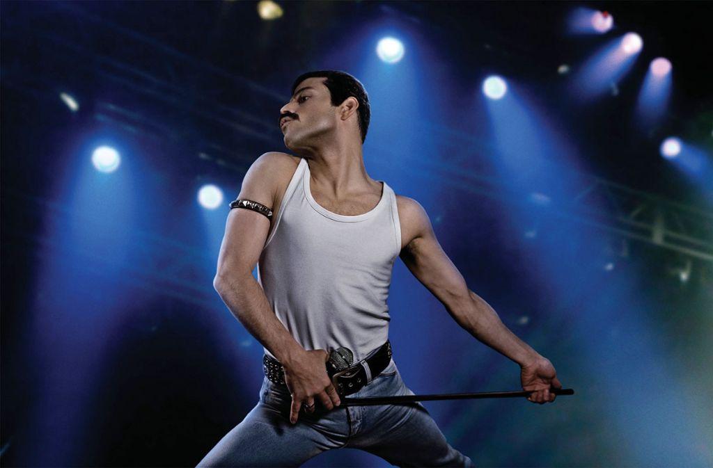 "Rami Malek als Freddie Mercury in einer Szene des Films ""Bohemian Rhapsody"" Foto: dpa/Fox Deutschland"