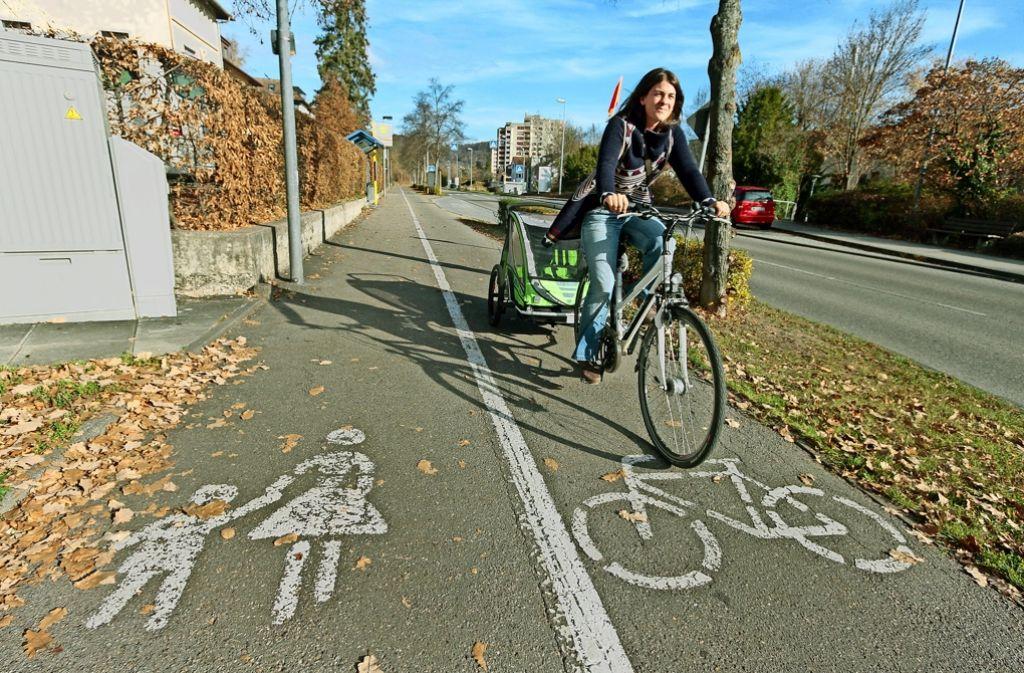Kombinierte Fuß- und Radwege:  Nicht nur in Herrenberg  geht es eng zu. Foto: factum/Granville