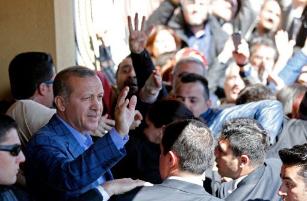 Der türkische Staatspräsident Recep Tayyip Erdogan Foto: dpa