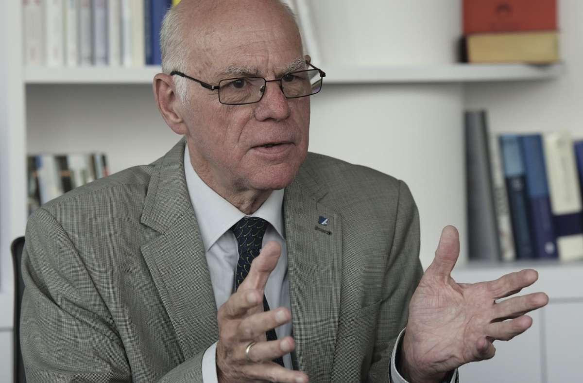 """Norbert Lammert fordert im Interview mit unserer Zeitung weitere europäische Integrationsschritte: """"Der Status quo reicht nicht aus."""" Foto: Lipicom/ /Michael Ebner"""