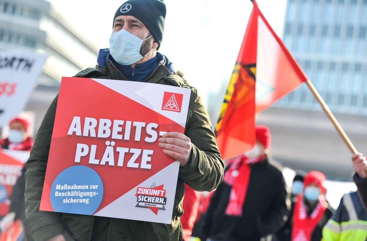 Die IG Metall ruft am Donnerstag zu einer Kundgebung auf. Foto: Lichtgut/Max Kovalenko (Symbolfoto)