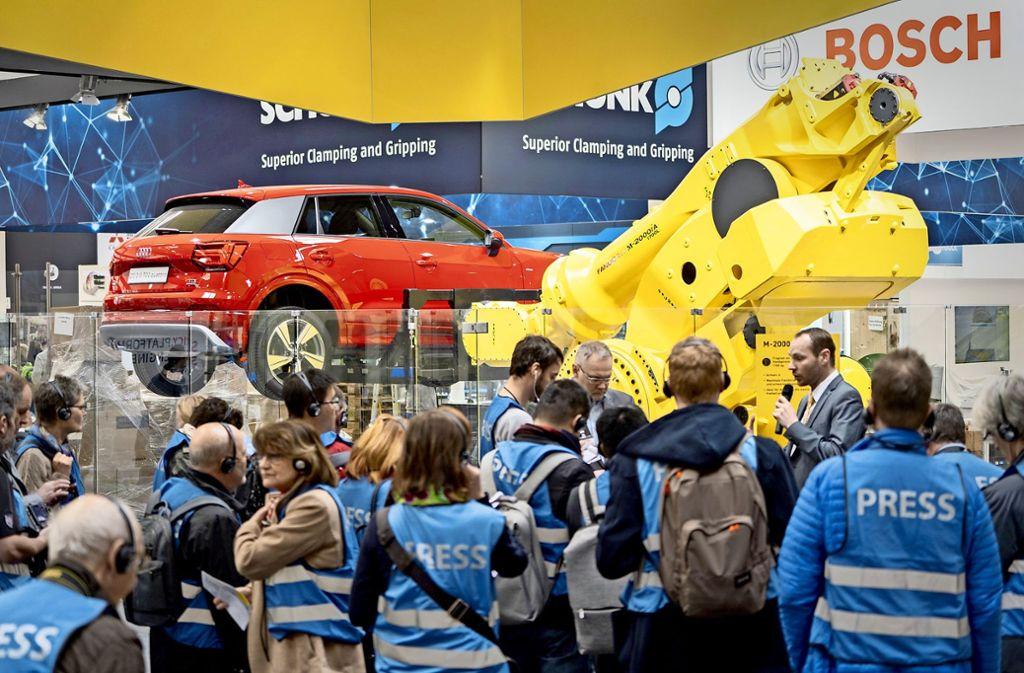 Großer Andrang beim Branchentreff der Maschinenbauer in Hannover. Foto: Hannover Messe