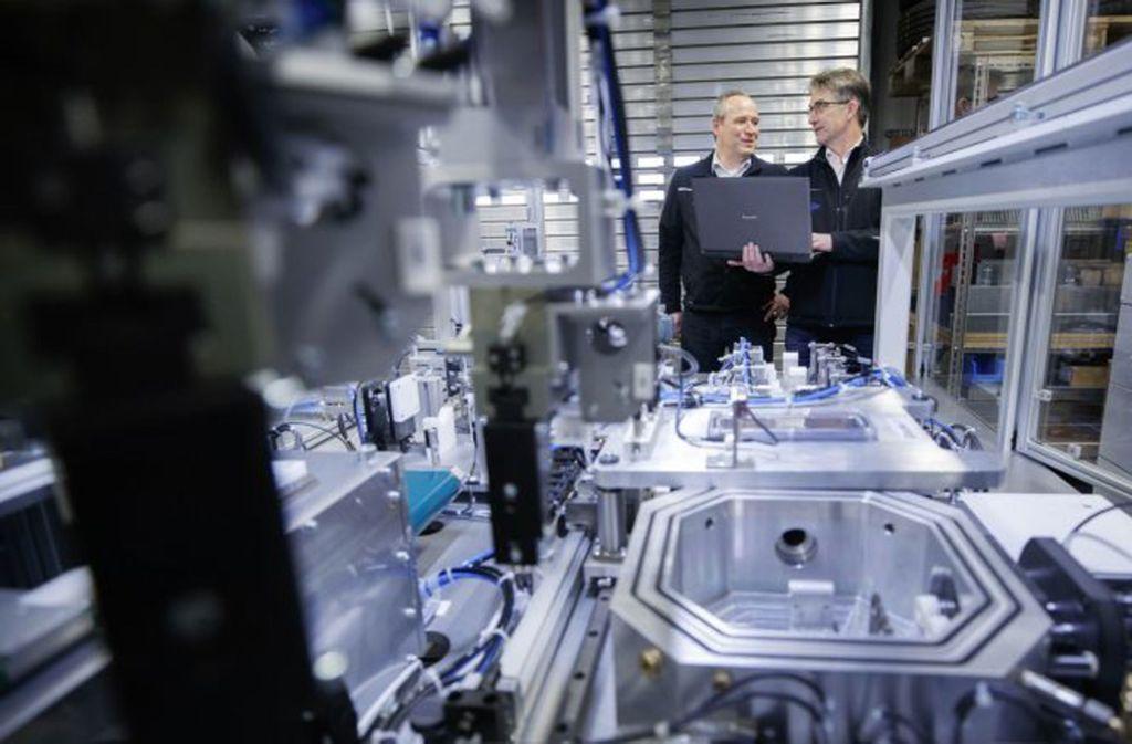 Juergen Maurer und Uwe Kleinert sind die Geschäftsführer der KLUMA GmbH. Foto: KLUMA
