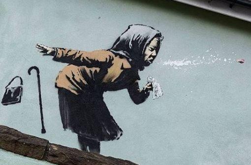 Ein echter und ein  falscher Banksy