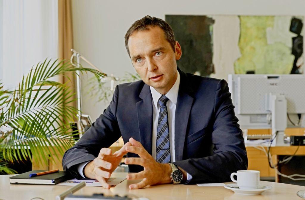 Rainer Hagenbucher verspricht, die Sorgen der Anwohner ernst zu nehmen. Foto: Christian Hass