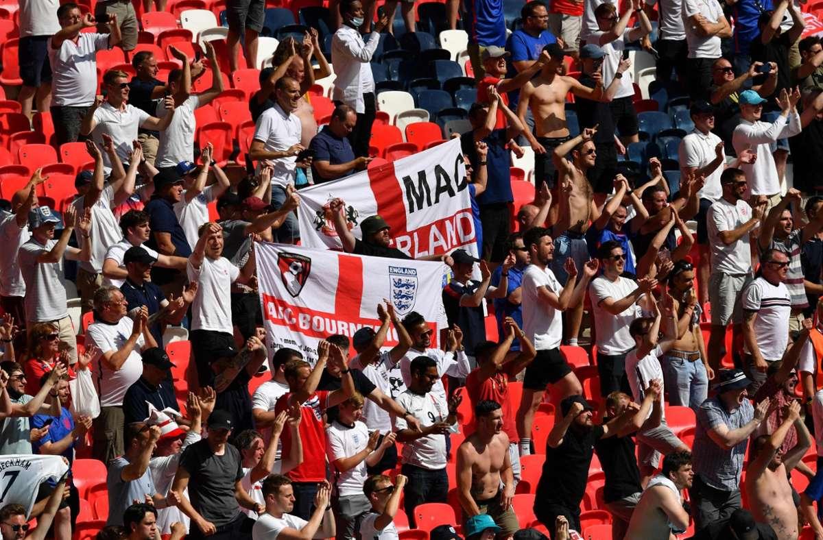 England hofft auf eine Finalteilnahme bei der EM 2021. Foto: AFP/JUSTIN TALLIS