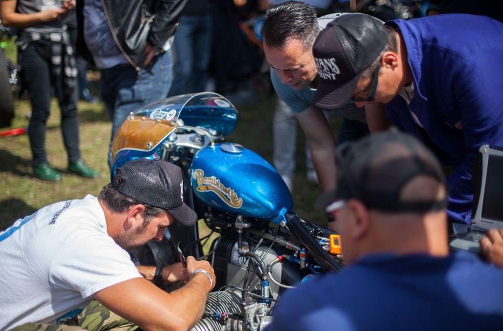 Tipps für den Motorrad-Umbau gibt es ebenfalls auf beim Glemseck. Foto: Bartek Langer