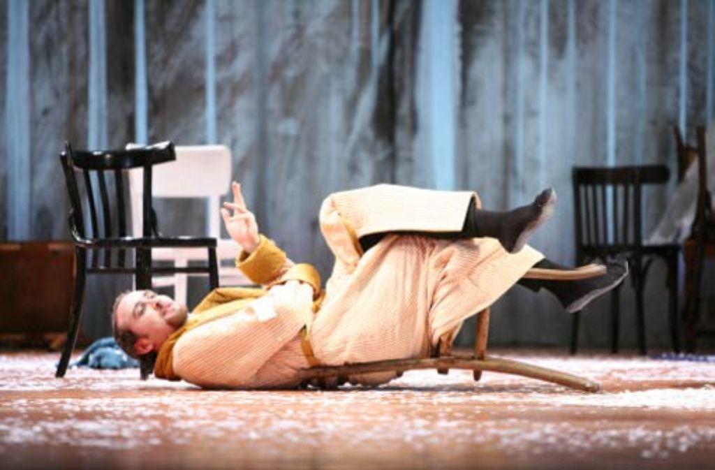 David Liske als Phillipe Quatrepieds in Penelope. Er wurde in Stuttgart als Schauspieler ausgebildet. Foto: Dominik Eisele