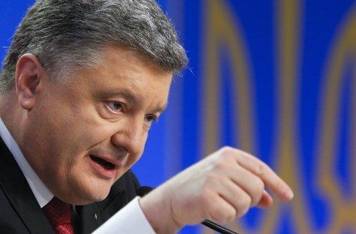 Poroschenko kündigt Gipfeltreffen in Kasachstan an