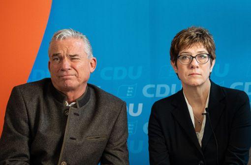 CDU-Vize Thomas Strobl verteidigt Kramp-Karrenbauer
