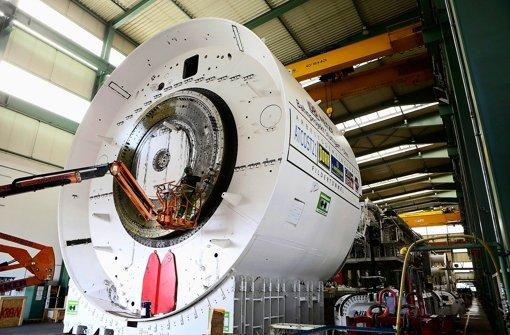Die Tunnelbohrmaschine für den Fildertunnel ist bei der Firma Herrenknecht im badischen Schwanau produziert worden. Foto: Breithaupt