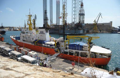 """Irrfahrt der """"Aquarius"""" endet im Hafen von Malta"""