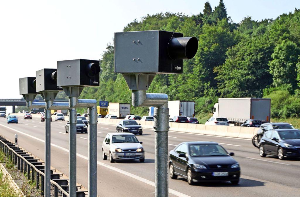 Die neuen Autobahnblitzer bei Leonberg leisten schon ganze Arbeit. Foto: factum/Jürgen Bach