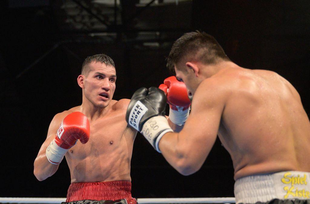 Jack Culcay (links) kämpfte 2019 gegen Jama Saidi. (Archivbild) Foto: imago images/Eibner/Uwe Koch/ Eibner-Pressefoto via www.imago-images.de
