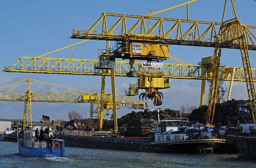 Güterverkehr auf dem Rhein nimmt zu