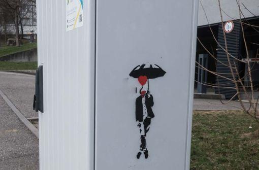 Neue Street-Art  des Schredder-Künstlers?