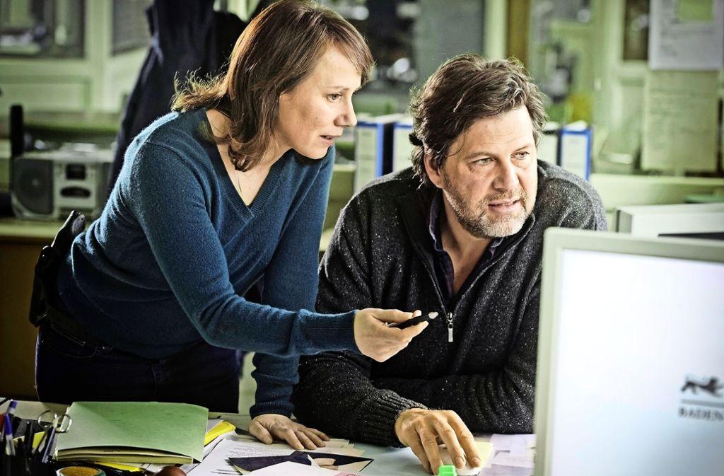 Franziska Tobler (Eva Löbau) und Friedemann Berg (Hans-Jochen Wagner) ermitteln in einem heiklen Fall. Foto: SWR